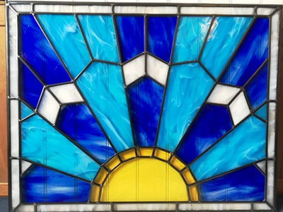 Art Deco Sun Rise Window