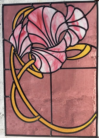 Art Nouveau Flowers Window