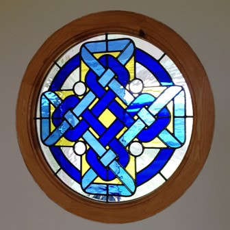 Celtic cross porthole window