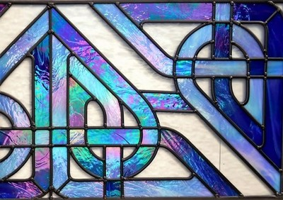 Celtic Diamond Knot window