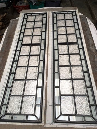 Leaded light door panels