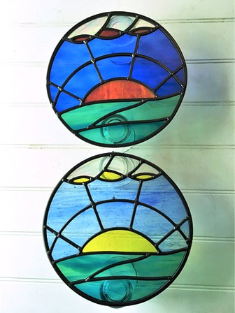 Sun rise and sun set porthole windows